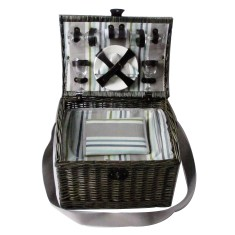 Luxury Wicker Picnic Basket for 4 people