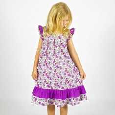 Girls' flower cotton dress