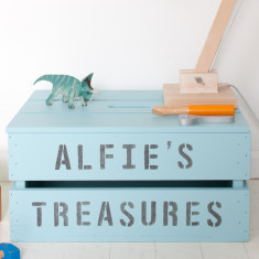 Personalised storage crate with lid