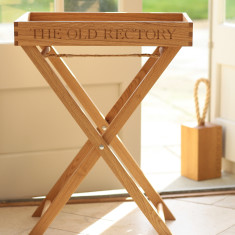 76e3b4c4b211 Personalised Large Oak Tray With Stand. by The Oak   Rope Company