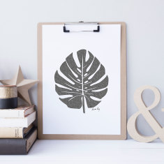 Palm drawing print