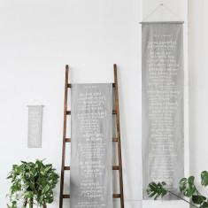 A dreamer's manifesto linen wall banner