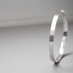 Minimal men's cuff sterling silver