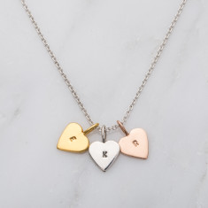 Personalised Tricolore Mini Heart Necklace