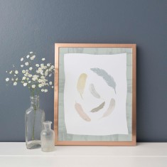 Bird Feather Birch Tree Nursery Wall Art Print