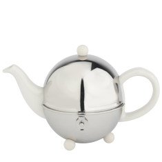 Bredemeijer Cosy teapot in white or black