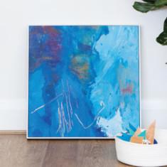 Into the deep framed canvas