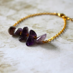 Semi-precious stone bar bracelet