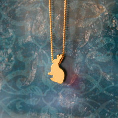 Chidren's gold plated bunny charm necklace