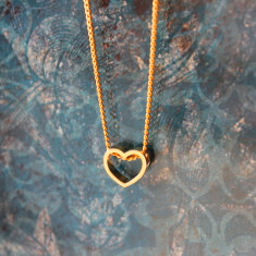 Children's gold plated heart charm necklace
