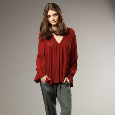 Hanna Top in Maroon