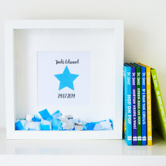 Personalised Little Star Confetti Frame