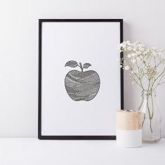 Apple drawing print