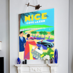 Vintage Travel Nice | Canvas Art