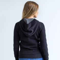 Victoria Modern Pullover Hoodie In Black