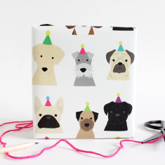 Party Dog Wrapping Paper x2 sheets
