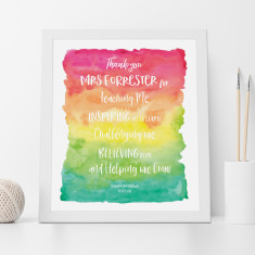 Teacher Thank You and Appreciation Print