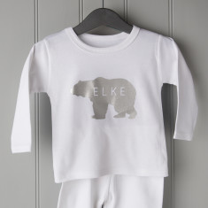 Personalised Polar Bear Childrens Pyjamas