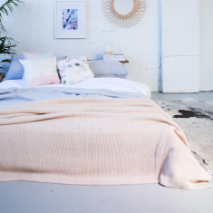 Oatmeal Cotton Throw