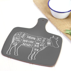 Butcher beef cuts serving board