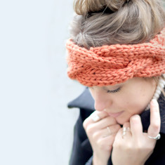Make Your Own Cable Headband Knitting Kit
