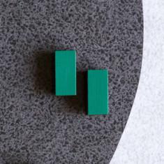 Prism Studs - Emerald