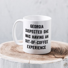 Personalised out-of-coffee experience mug