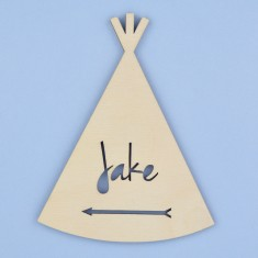 Personalised Kids' Teepee Bedroom Door Sign