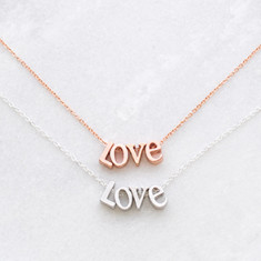 Love letters necklace in Rose gold or silver
