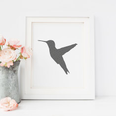 Hummingbird drawing print