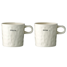 Mine & yours mugs (set of 2)