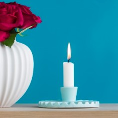 Mint green candleholder