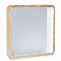 Taina Natural Wood Square Mirror by Oak and Ash (Various Sizes)