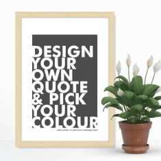Design your own scandi style quote print