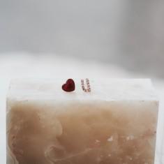 Heat U stud earrings 18k rose gold vermeil