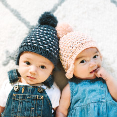 Knit Your Own Baby Star Bonnet Hat Kit