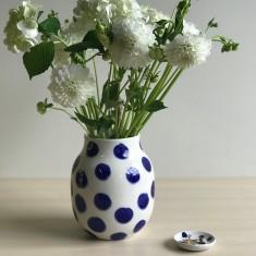 Spotted Blue Vase