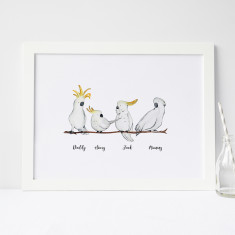 Family Of 4 In A White A4 Frame