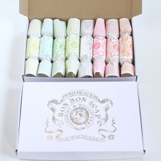 Silver-foiled bon bon soap giftbox (set of 8)