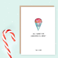 Hot weather Christmas cards (pack of 4)