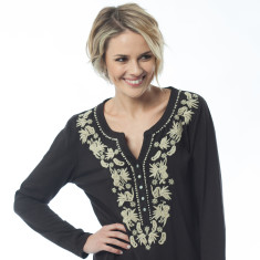 Joline black tunic