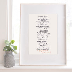 A Dreamer's Manifesto A3 Art Print
