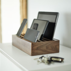 Naturals Large Walnut Docking & Charging Station