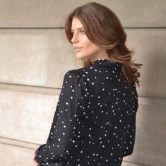 St Tropez Shirt In Black or White with Contrast Stars