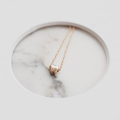 Small heart necklace 18k gold vermeil