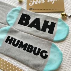 Bah Humbug Funny Christmas Sock Set