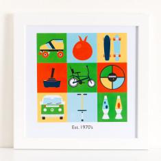 Est. 1970's Framed Print