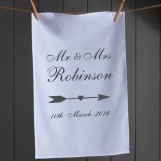 Mr & Mrs Personalised Tea Towel