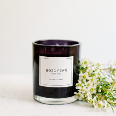 Bosc pear candle
