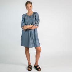 India shirt-dress in denim